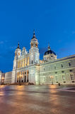 Almudena cathedral in Madrid, Spain. Royalty Free Stock Images