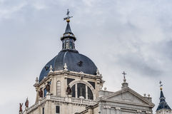 Almudena cathedral in Madrid, Spain. Stock Photos