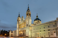 Almudena cathedral in Madrid, Spain. Stock Images