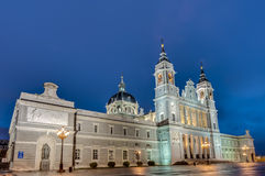 Almudena cathedral in Madrid, Spain. Royalty Free Stock Photo