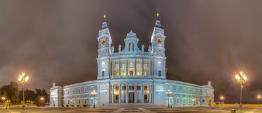 Almudena cathedral in Madrid, Spain. Royalty Free Stock Photos
