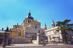 The Almudena Cathedral in Madrid, Spain Royalty Free Stock Photography