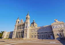 Almudena Cathedral in Madrid Stock Photo