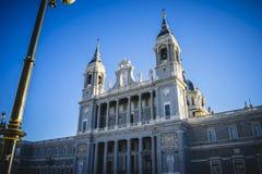 Almudena Cathedral, situato nell'area dei Habsbourg, classi Immagine Stock Libera da Diritti