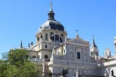 Almudena Church, cathédrale de Madrid, Espagne Images stock
