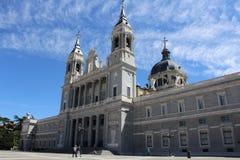 Almudena Church, Kathedrale von Madrid, Spanien Lizenzfreies Stockbild