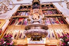 Almudena domkyrka Madrid Arkivfoto