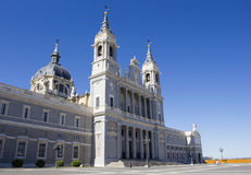 Almudena Katedra Obrazy Royalty Free