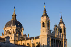 Almudena Kathedrale in Madrid Stockbild