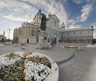 The Almudena's Cathedral in Madrid Stock Photos