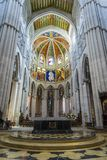 almudenadomkyrka madrid spain royaltyfria bilder