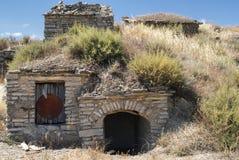 Almudevar (l'Aragona, Spagna): bodegas Immagine Stock