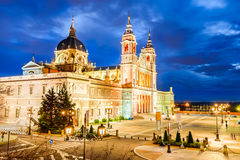 Almuedena Cathedral, Madrid, Spain Stock Photography