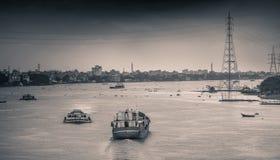 Almuerzo con fotografía impresionante del río Imagen de archivo
