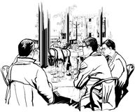 Almuerzo de asunto Foto de archivo libre de regalías