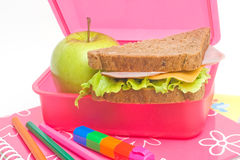 Almuerzo de escuela Foto de archivo