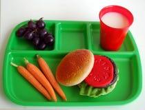 Almuerzo de escuela Imágenes de archivo libres de regalías