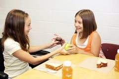 Almuerzo de escuela - comercio Foto de archivo libre de regalías