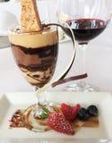 Almuerzo de la degustación de vinos Fotografía de archivo