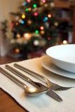 Almuerzo de la Navidad Foto de archivo
