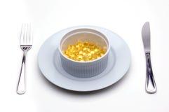 Almuerzo de la vitamina E (tocoferol) foto de archivo