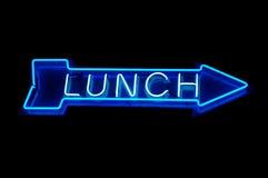 Almuerzo de neón Imágenes de archivo libres de regalías