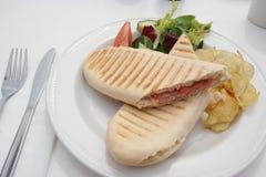 Almuerzo del bocadillo de Pannini Fotografía de archivo
