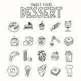 Almuerzo dulce del desayuno de la mañana del desierto de la comida o Fotos de archivo libres de regalías
