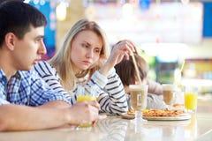 Almuerzo en café Imagen de archivo