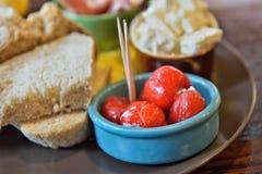 Almuerzo en estilo español Foto de archivo libre de regalías