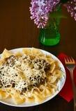 Almuerzo italiano Imágenes de archivo libres de regalías