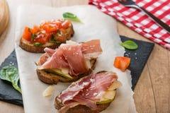 Almuerzo italiano hecho en casa Fotografía de archivo