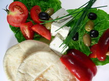 Almuerzo mediterráneo fotografía de archivo libre de regalías