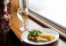 Almuerzo mediterráneo ligero Foto de archivo libre de regalías
