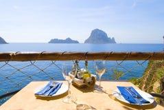 Almuerzo o cena 02 del serie de Ibiza Fotografía de archivo