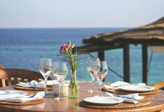 Almuerzo o cena 03 del serie de Ibiza Foto de archivo