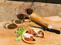 Almuerzo para dos en Francia Fotografía de archivo libre de regalías