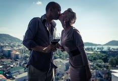 Almuerzo romántico Fotos de archivo