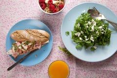 Almuerzo sano Imagen de archivo libre de regalías