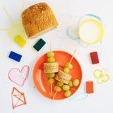 Almuerzo sano de los cabritos Foto de archivo