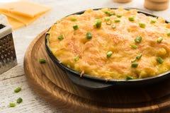 Almuerzo sano hecho en casa - mac-n-queso Fotografía de archivo