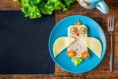 Almuerzo sano para los niños Foto de archivo