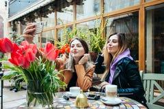 Almuerzos en un caf? imágenes de archivo libres de regalías