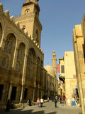 AlMuizz街道,伊斯兰教distric,开罗 库存图片