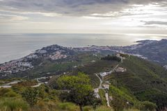 Almunecar, Andalusia, Spain. Almunecar in Andalusia in Spain Stock Photography
