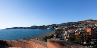 Almunecar  panorama. The seaside vacation town of Almunecar   Costa del Sol, Andulacia, Spain Royalty Free Stock Photo