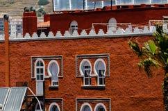 ALMUNECAR, SPAGNA - 8 giugno 2018 vista della città turistica di Almu Fotografie Stock Libere da Diritti
