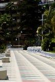 ALMUNECAR, SPAGNA - 8 giugno 2018 vista della città turistica di Almu Immagini Stock Libere da Diritti