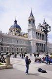 Almuneda katedra, Madryt, Hiszpania zdjęcia royalty free
