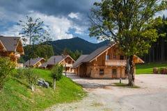 Almwelt Austria è situato sui pendii di Pichl Fotografie Stock